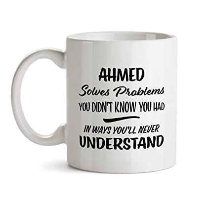 Amazon Ahmed Name Gift Birthday Fun Coworker Boss Colleague