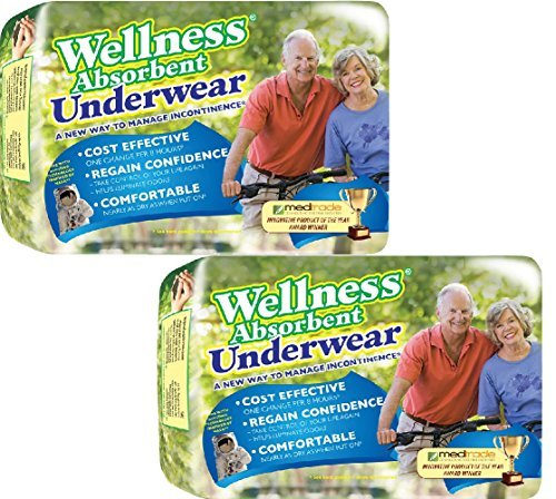(Set/2) Wellness Super Absorbent Underwear Manage Incontinence - XL,24 Count by Unique Wellness