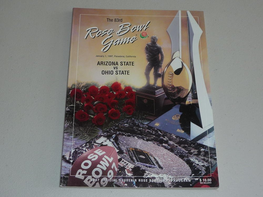 1997 ROSE BOWL PROGRAM OHIO STATE ARIZONA STATE ASU NEAR MINT