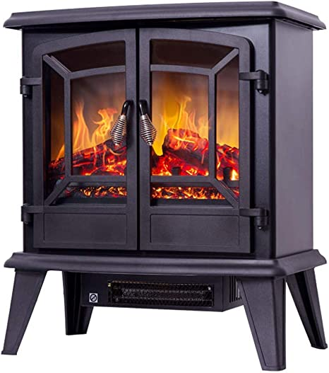 Freestanding Electric Fireplace Heater Coal Burning Flame Effec Fireplace Heater Electric With Log Burner Flame Effect 1400w Overheat Protection Amazon Ca Home Kitchen
