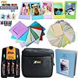 Xtech FujiFilm Instax Mini Accessories Kit f/ Fujifilm Instax Mini 8, Mini 8 N, Mini8 Mini 8 Mini 7, Mini 7s, Mini 50s Includes Assorted Frames, 4 AA Batteries w/ Charger + Case + Picture Album + MORE