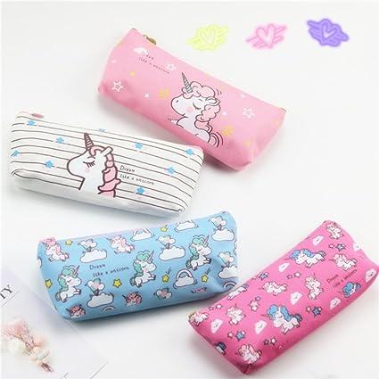 Bolsa de plumas Unicornio Paquete de cuatro productos Versión coreana Papelería de aprendizaje estudiantil Monedero multifuncional Bolsa de ...