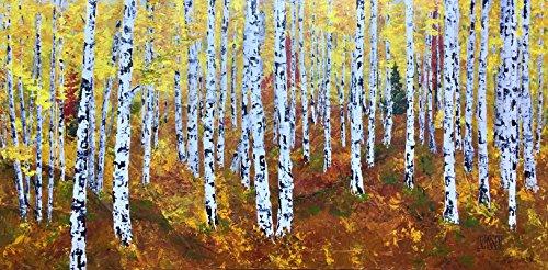 Autumn Birches by