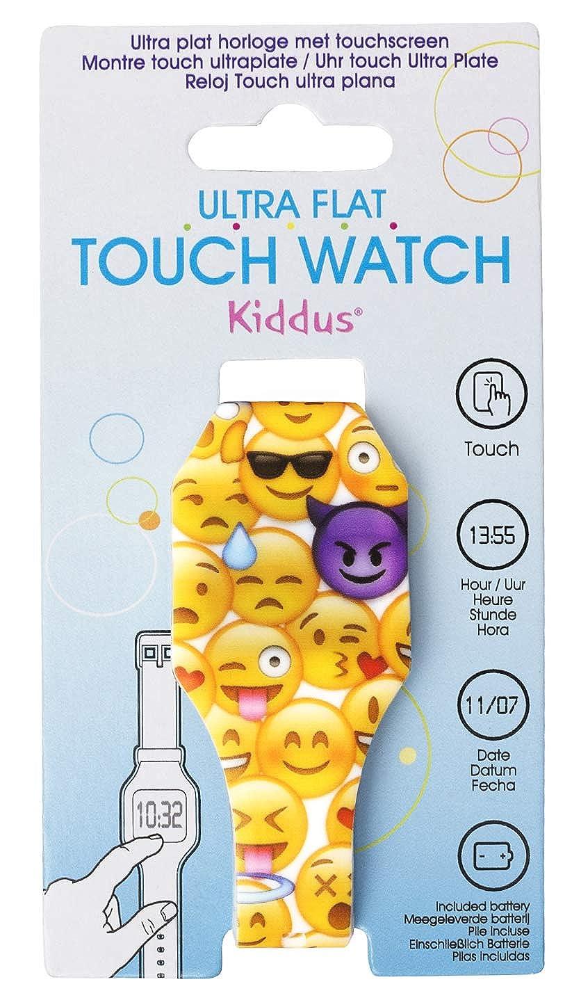 Reloj LED Digital Chica y Chico, Infantil y Joven, de Pulsera, Correa de Suave Silicona, Trendy Regalo, emoticonos, Kiddus KI10206: Amazon.es: Relojes