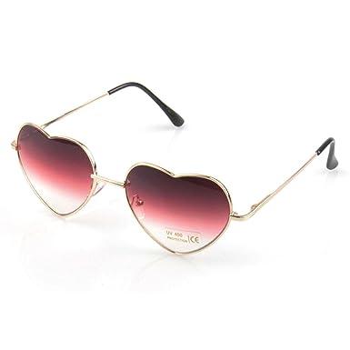 Moda Retro Vintage Corazón UV400 gafas de sol degradado ...