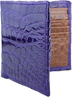 product image for Purple and Cognac Alligator Wallet - London Underbelly