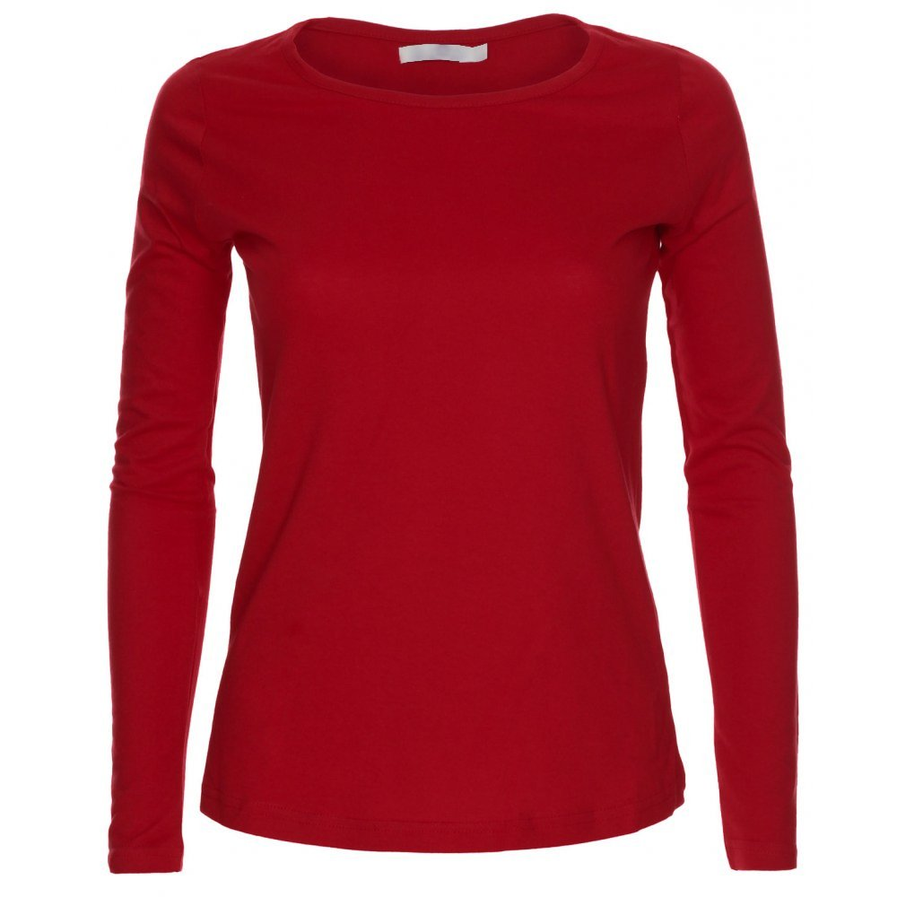 LessThanTenQuid Missloved ® Ladies Womens Plain Long Sleeve Round Neck Top UK Sizes 8-18