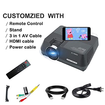 Amazon.com: PTVwire Upgraded Home LCD Projector 1080P for Home ...