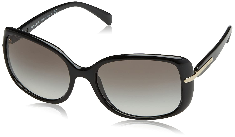 4d23aaf89374 PRADA Women's 0Pr08Os 1Ab0A7 57 Sunglasses Black/Gray Gradient:  Amazon.co.uk: Clothing