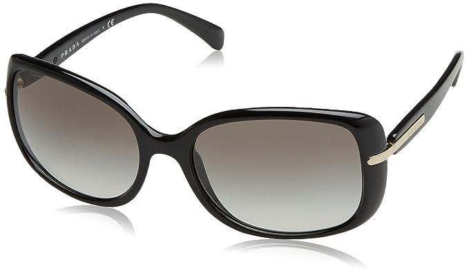 fdb20d0377 Prada 0PR08OS 1AB0A7 57 Gafas de sol, Negro (Black/Gray), Unisex-Adulto:  Amazon.es: Ropa y accesorios