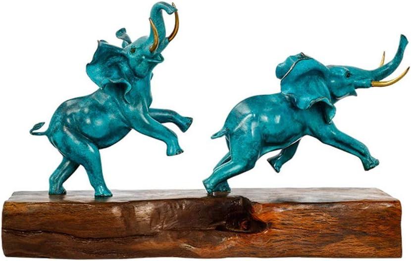 ジュエリー - すべての銅の象の装飾品、TVセットのワインキャビネット開口新築祝いの贈り物の富縁起の良い、20 * 66 * 35CM あなたは持っているに値します