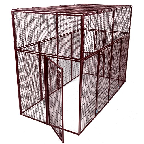 Animal House Large Ultra Heavy Duty Outdoor Protective Kennel (7.5' Hx10'Lx5'W) 244.2 lbs by Animal House