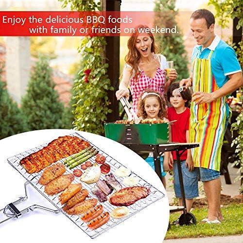 FABSELLER Grille de Barbecue en Acier Inoxydable avec Sac de Rangement