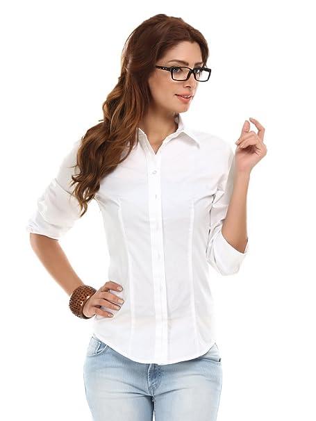 1ef5cfd7b9ca6 Fashion205 girls Cotton Formal Shirt (1512-White-Shirt-XXL White)  Amazon.in   Clothing   Accessories