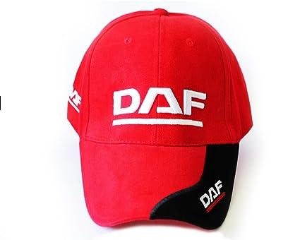 DAF estilo rojo color gorra de béisbol/sombrero de verano, buena ...
