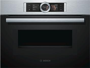 Bosch serie 8 - Horno compacto con microondas cmg6764b1 inoxidable