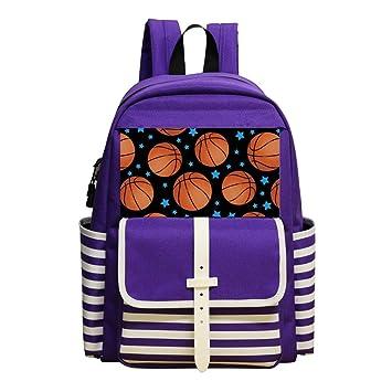 Amazon.com: Mochila escolar con diseño de baloncesto para ...