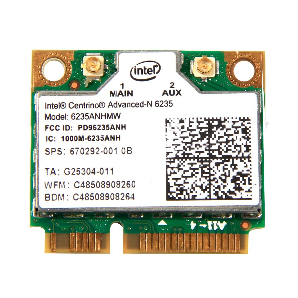 Etase Dual Band 300 Mbps 4.0 per Intel Centrino Advanced-N 6235 6235ANHMW Half PCI-E WiFi Card 802.11Agn