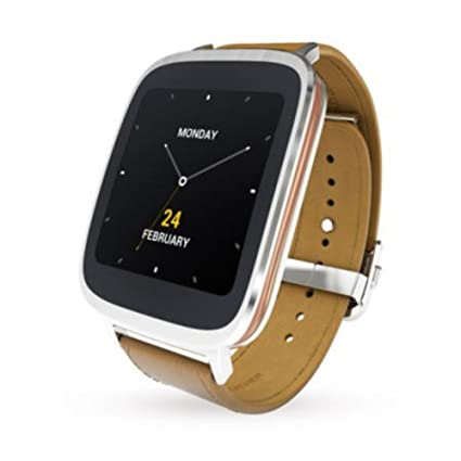 ASUS Zen Montre Argent/Cuir Marron - 90 Nz0011-m00110: Amazon.fr: High-tech
