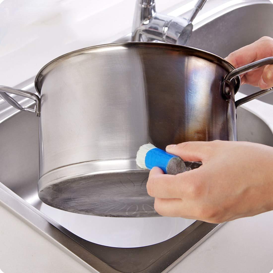 1 Pc en Acier Inoxydable Tige Magique Stick Rouille Remover Nettoyage Lavage Brosse Pot De Balayage De Voiture