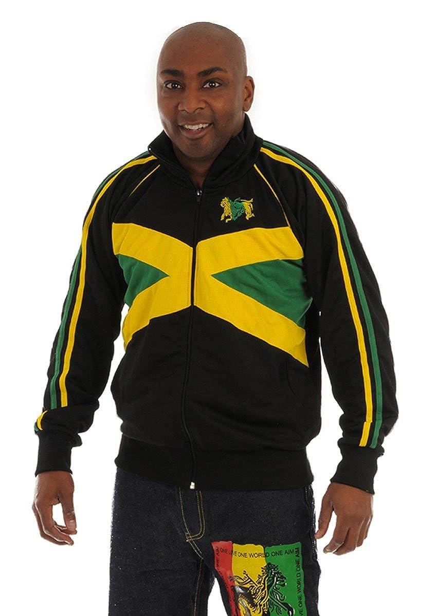 rasta4real LEîN DE JUDAH Rasta JAMAICA BANDERA CHAQUETA: Amazon.es ...