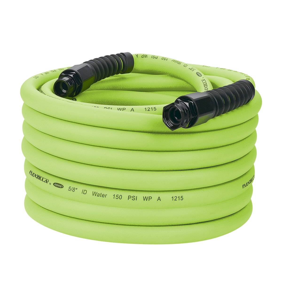 Flexzilla Pro Water Hose with Reusable Fittings, 5/8 in. x 75 ft, Heavy Duty, Lightweight, Drinking Water Safe - HFZWP575