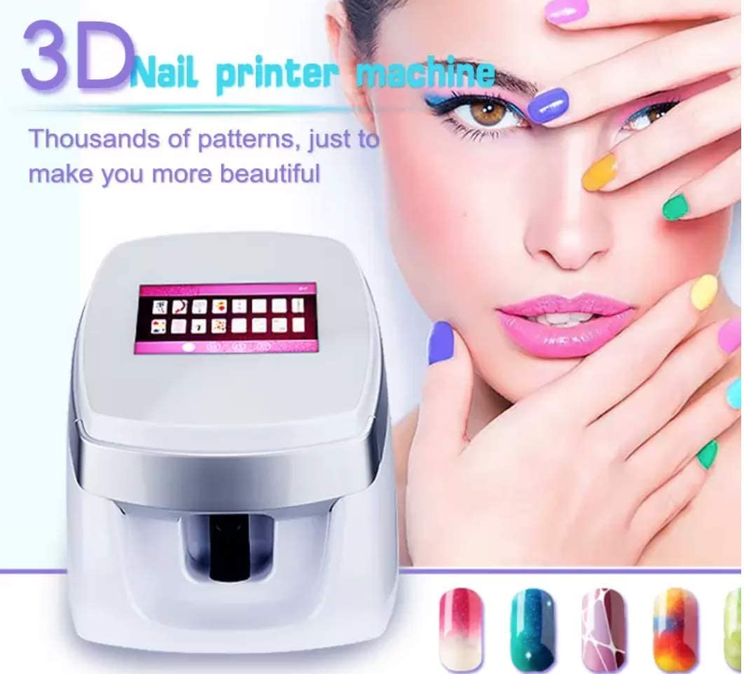 Newest Portable 3d Nail Printers Portable Painting Machine Automatic Mobile Wireless Transfer Digital All Intelligent Nail Printers Pink Amazon Co Uk Beauty