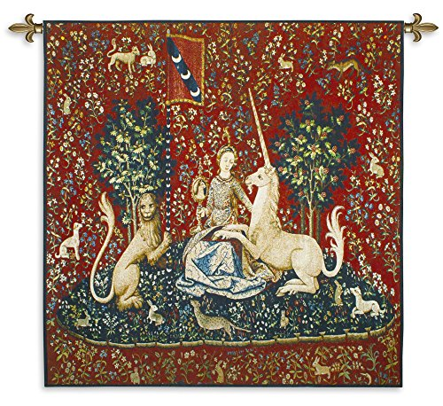 Fine Art Tapestries the Lady and the Unicorn Sight Wall Tapestry (Wool Tapestry Silk)