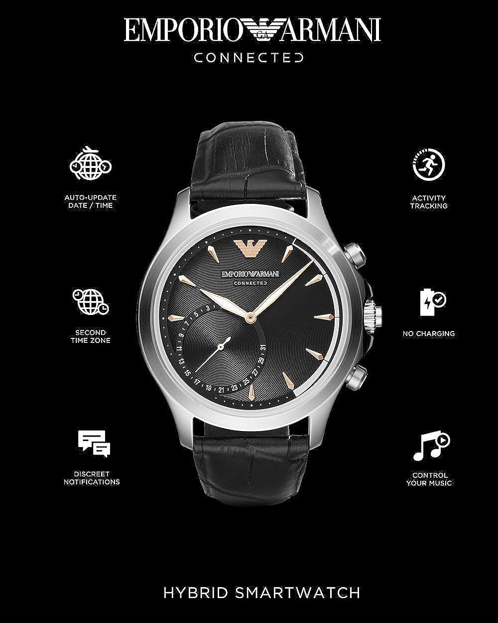 Emporio Armani Connected Reloj de Hombre Cuarzo 43mm Correa ...