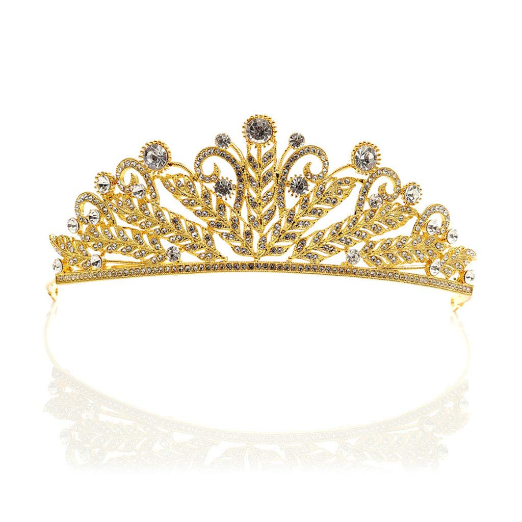 Hukai Bride Crown Wedding Headband Korean Rhinestone Tiara Luxury Princess Queen Prom