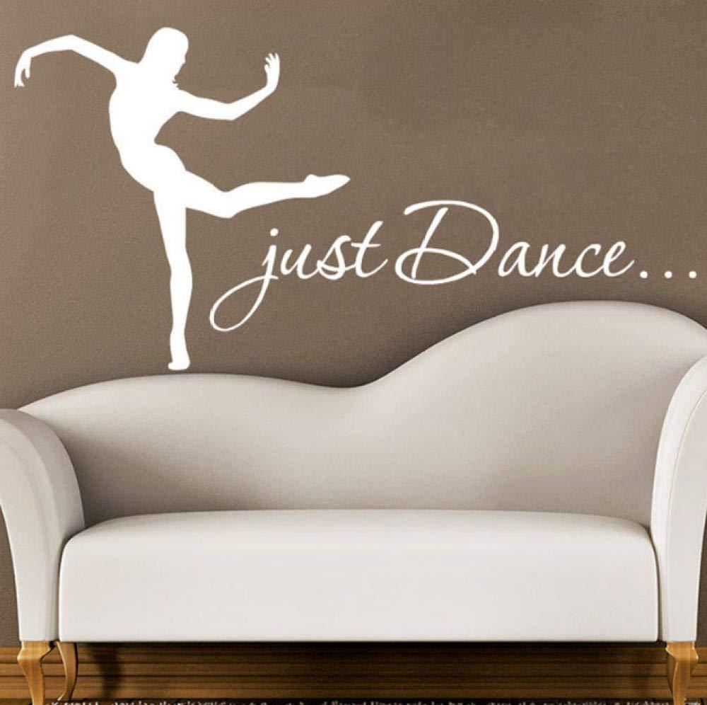 Just dance tatuajes de pared mujer niña silueta bailando gimnasia ...