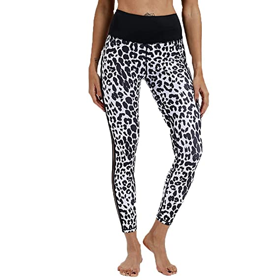 Pantalones de Yoga de Cintura Alta para Mujer Estampado de ...