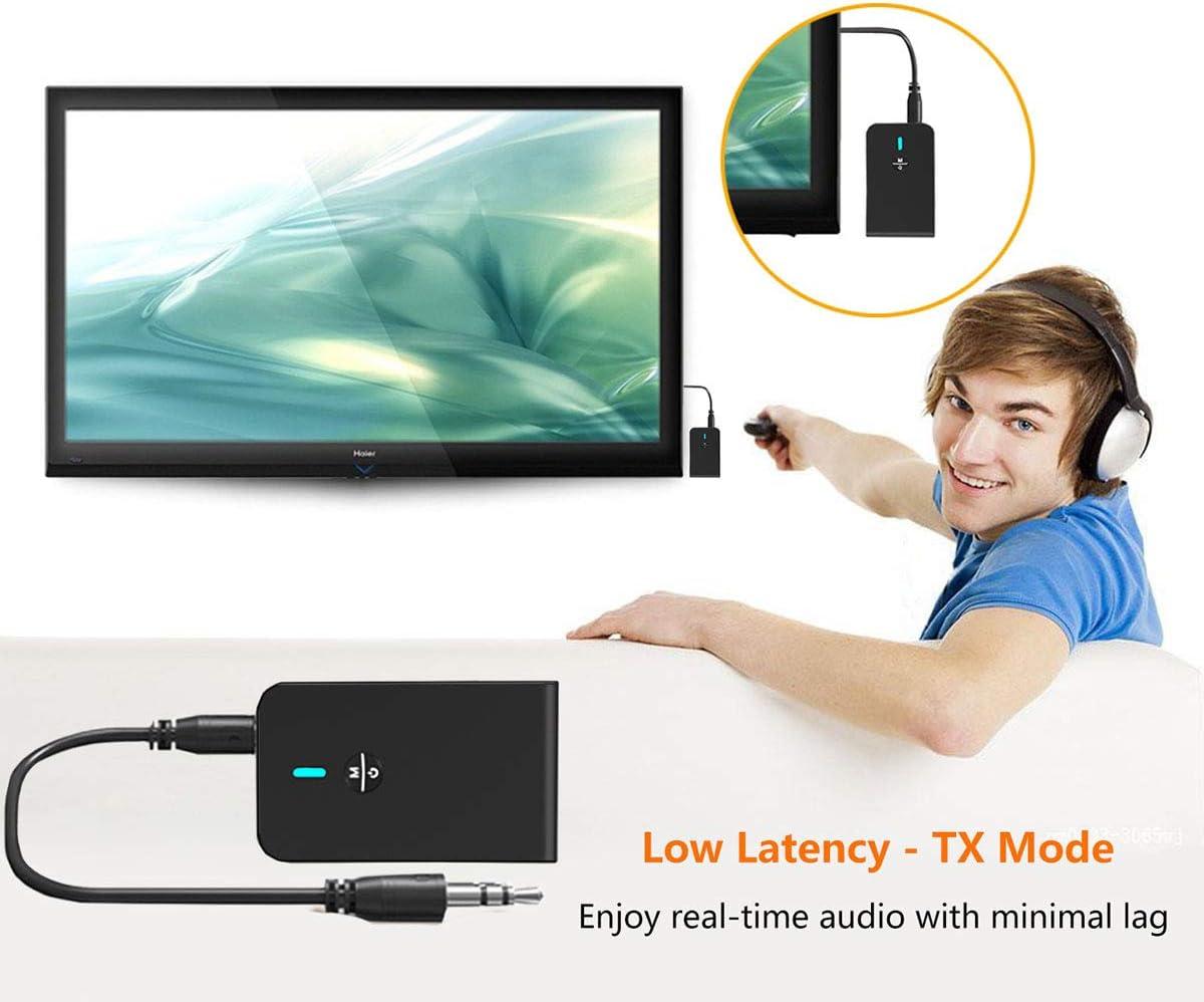 2-In-1-Adapter Sender Und Empf/änger Audio-Adapter F/ür TV Home HiFi System//Kopfh/örer Yiping Bluetooth 5.0 Sender-Empf/änger MP3-Playe Smartphone