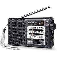 Radio PRUNUS J-01, Excellent Réception FM/AM(MW)/SW/Micro SD/MP3/WMA, Portable Transistor DSP, Batterie Rechargeable et Remplaçable de 2200mAh (20h d'écoute) [FM: 76-108MHz]