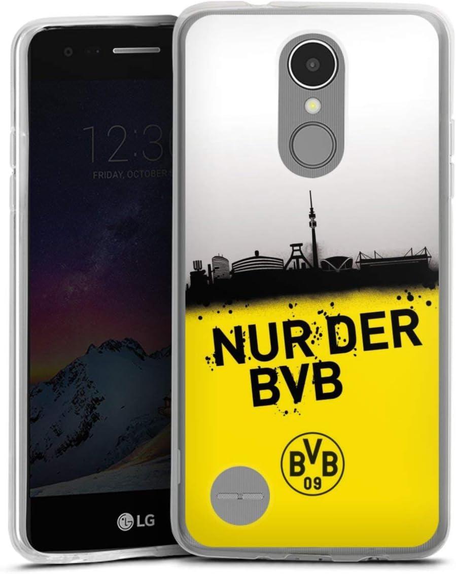 DeinDesign Silikon H/ülle kompatibel mit LG K4 2017 Case transparent Handyh/ülle Borussia Dortmund Offizielles Lizenzprodukt BVB