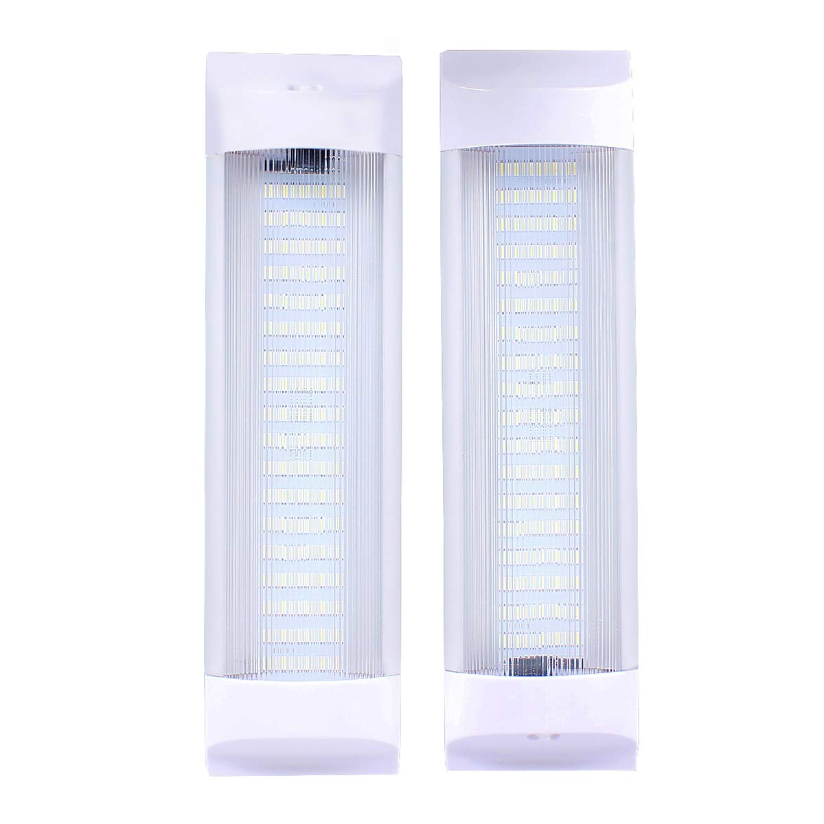 72 LEDs 11' Car Interior Led Light Bar White Light Tube with On/Off Switch for Car Van Truck RV Camper Boat (Work as Map Light/Dome Light/Trunk or Cargo Area Light/Rear Room Light etc)- Pair of 2 VOUKE US