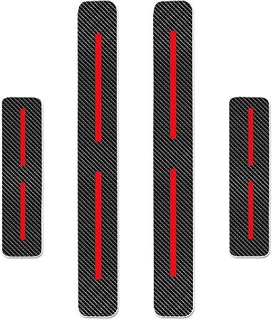 Auto Einstiegsleisten Aufkleber Autot/ür Schutz f/ür JEEP Compass T/üreinstiege Schritt Platte Kratzfeste Schutzfolie Kohlefaser 4STK Blau