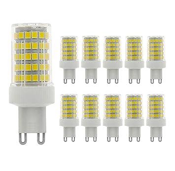 MENTA G9 bombilla LED 10W, equivalente a 80W, 800LM, Blanco Frío 6000K, No Regulable, AC220-240V, LED Candelabra Bombilla, 10 Unidades: Amazon.es: Bricolaje ...