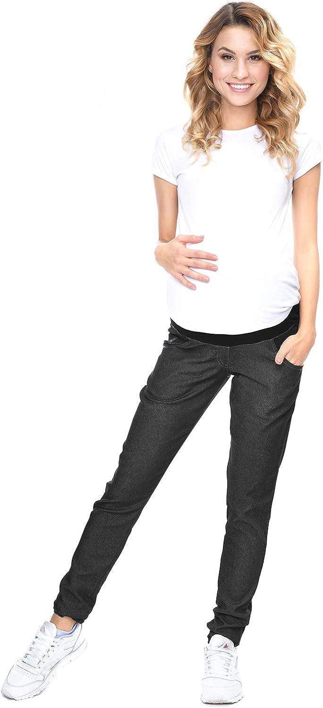 Mija Pantaloni eleganti Denim Jeans Snelli Premaman 9044