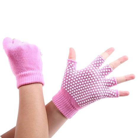 Los guantes antideslizantes de la yoga del algodón ...
