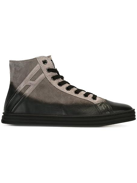 Hogan Rebel Hi Top Sneakers Uomo Hxm14109495c7u4830 Camoscio Grigio   Amazon.it  Scarpe e borse 8c14faa1008