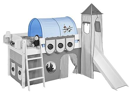 Etagenbett Tunnel Set : Lilokids tunnel dragons blau für hochbett spielbett und