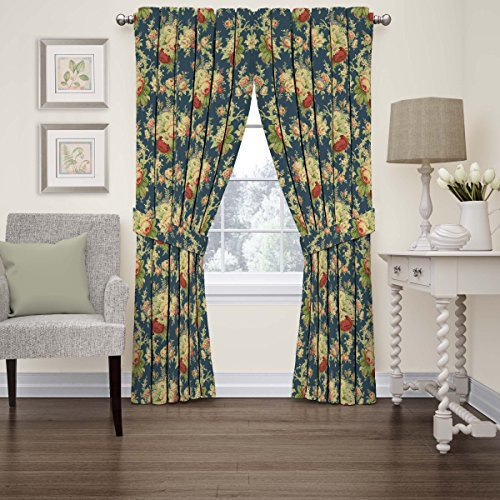 Waverly Sanctuary Rose Floral Window Curtain, 52