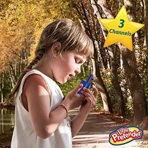Little Pretender Walkie Talkies for Kids, 2 Mile Range, 3 Channels, Built in Flash Light