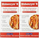 Garden of Life Wobenzym N, 200 Tablets (2 Pack) For Sale