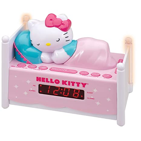 0add00520fb2 Amazon.com  HELLO KITTY KT2052A Alarm Clock Radio with Night Light ...
