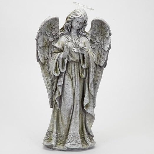 Bits y piezas – LED solares de jardín Estatua de ángel de la Paz con diseño de Halo 21 cm alto – hermoso jardín Escultura Decoración poliresina Estatua Jardín Arte: Amazon.es: Jardín