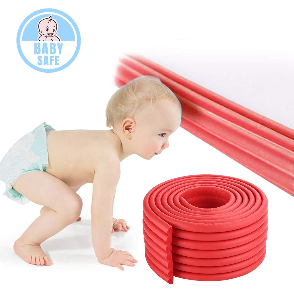 Baby Safety Protectors Table Edge Safe Anti-Collision Bar Corner Bumpers Guard Strip with 3M Adhesive 6.5×0.3×0.03Ft ITRAZ