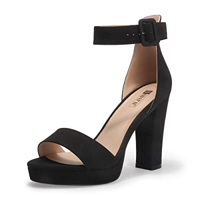Women/'s Open Toe Ankle Strap Chunky High Hee Sandals Wedding Party Dress Shoes