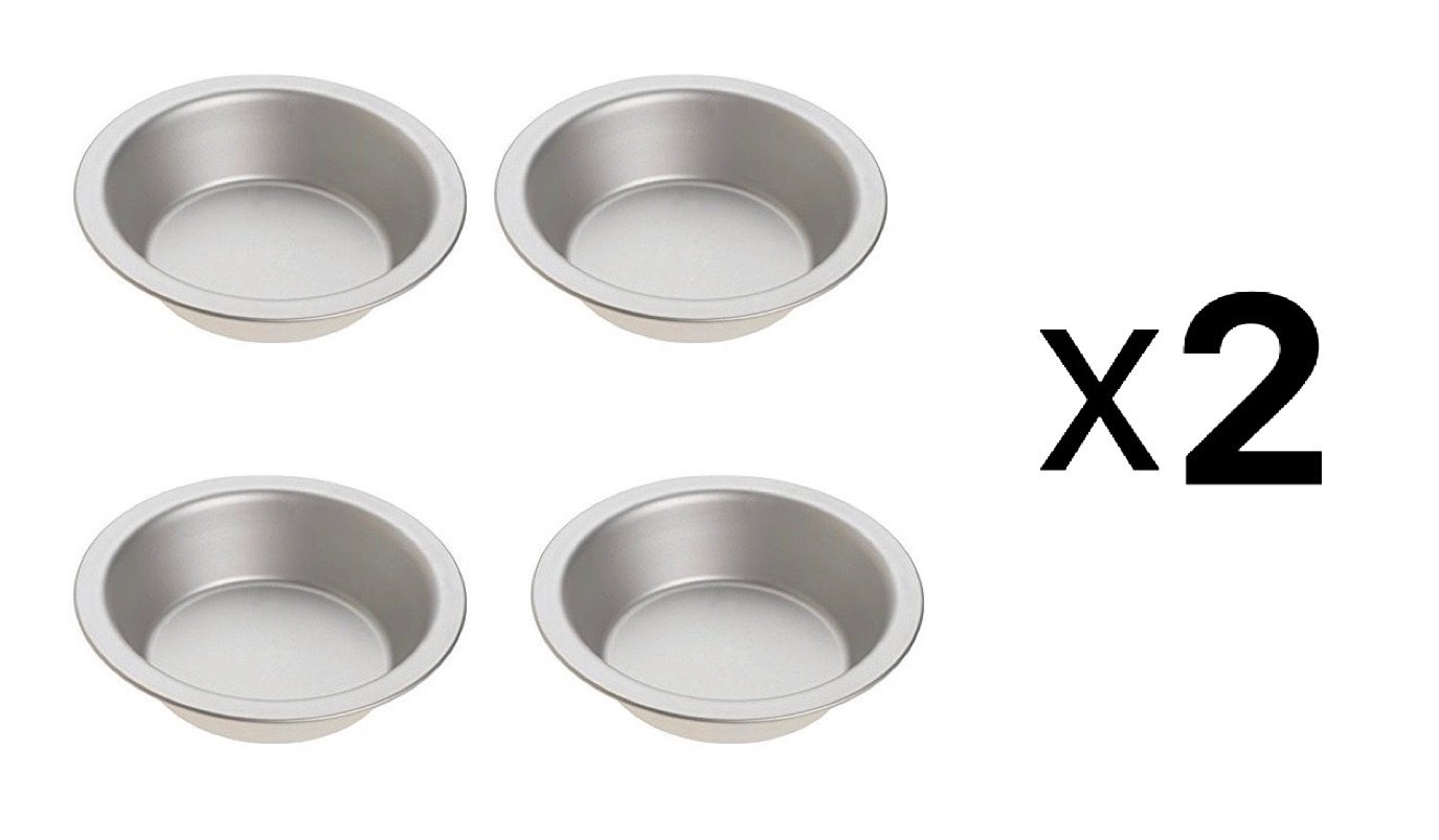 Norpro 3711 Tin Pie Pan, Set of 4 (2)